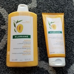 KLORANE shampoo and conditioner with mango butter